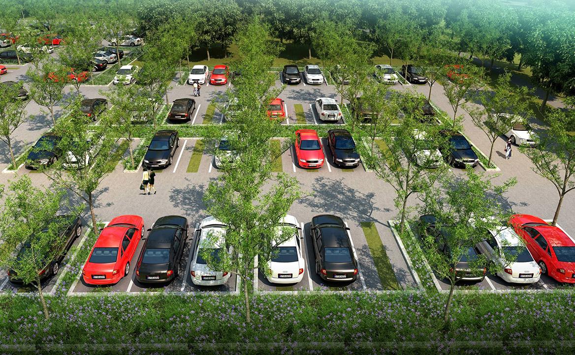洪梅站前绿化公园景观设计图片6
