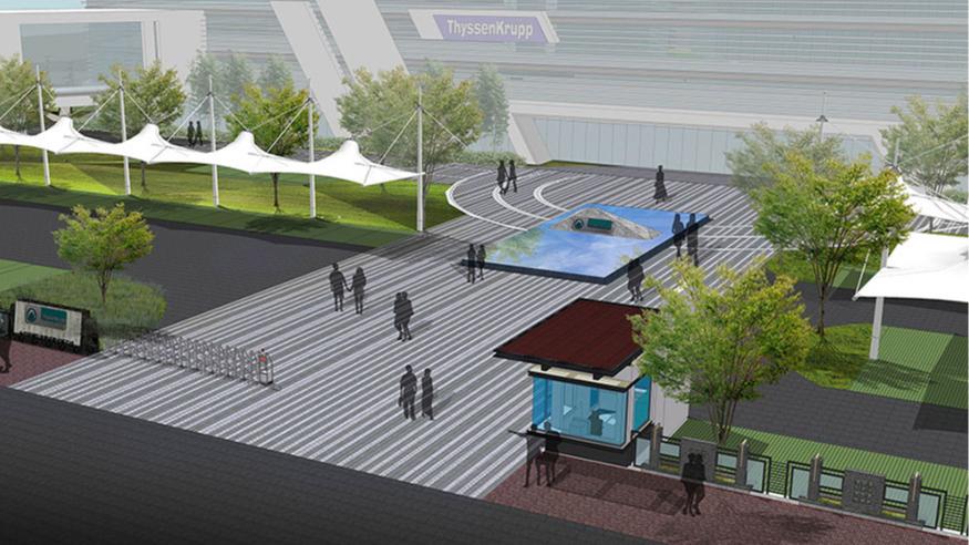 中山蒂森电梯厂景观规划设计
