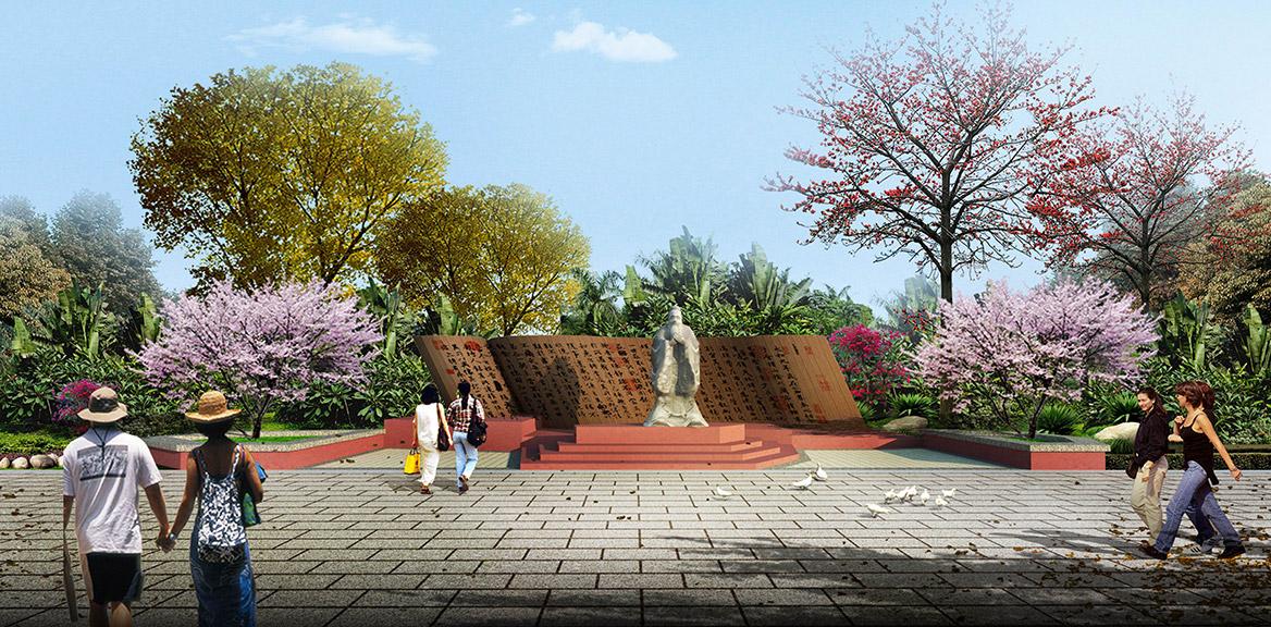洪梅镇乌沙村村庄规划设计主入口节点效果图-二