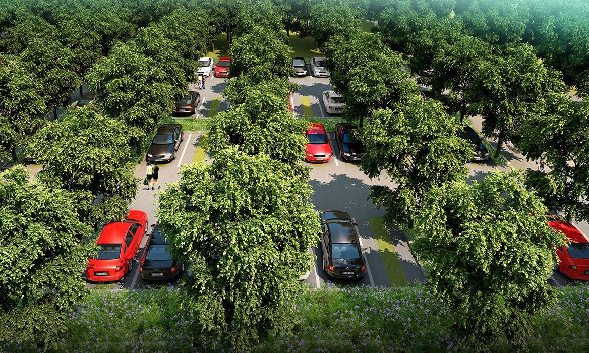 洪梅站前绿化公园景观设计图片7