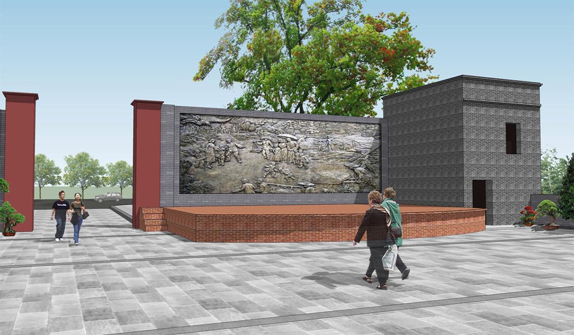 文化展示性雕塑效果图1