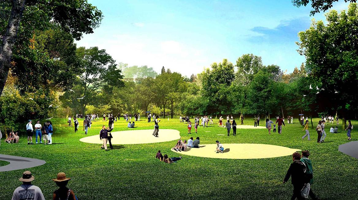 洪梅站前绿化公园景观设计图片8