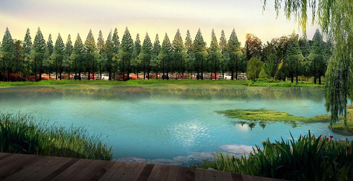 洪梅站前绿化公园景观设计图片10