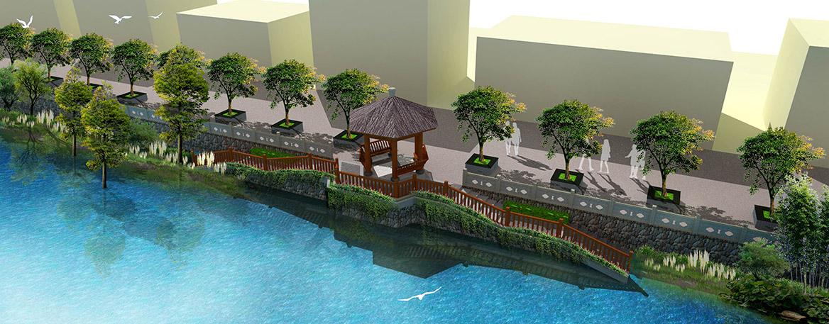 洪梅镇梅沙村特色村庄塑造工程项目整体规划十友亭效果图