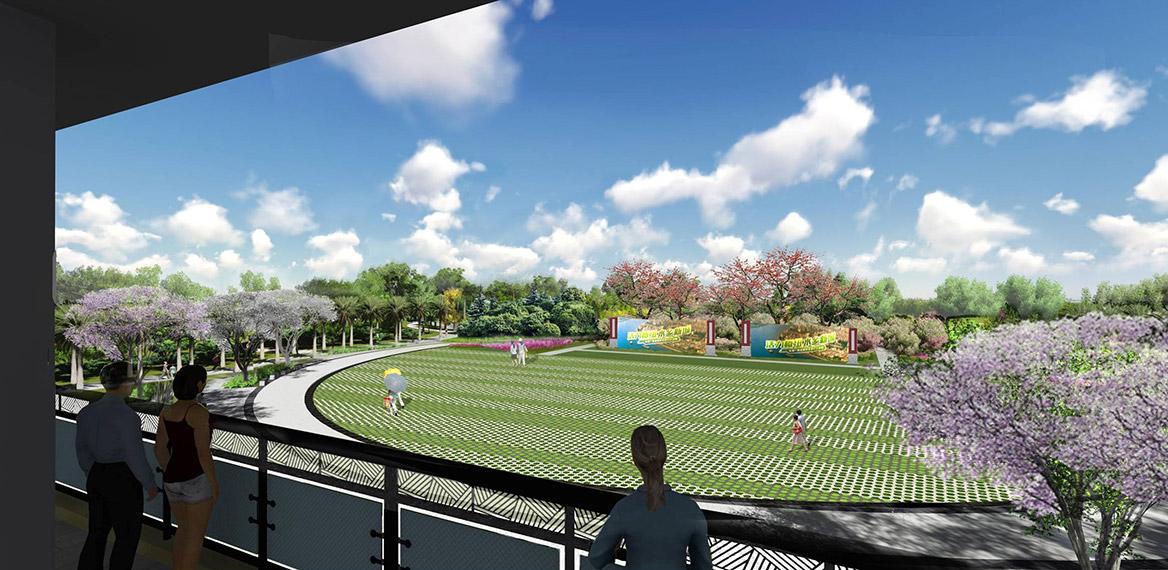 洪梅站前绿化公园景观设计图片3