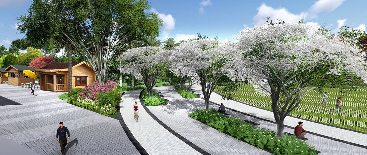 洪梅站前绿化公园景观设计图片4