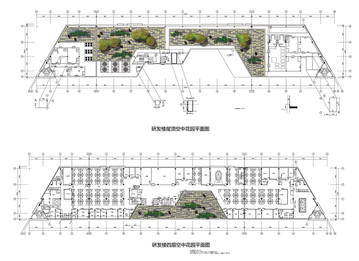 中山蒂森电梯厂景观规划设计空中花园平面图