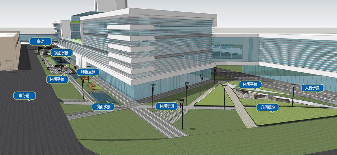 中山蒂森电梯厂景观规划设计景观功能分析二