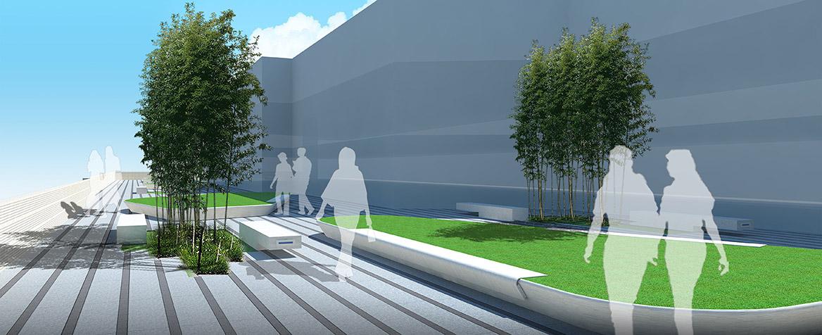 中山蒂森电梯厂景观规划设计效果图六
