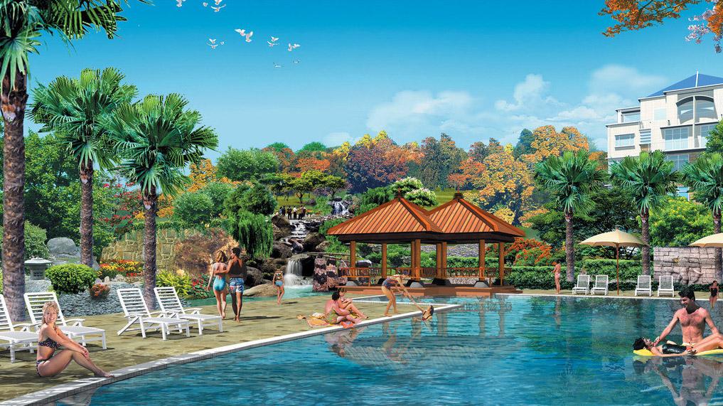 酒店景观设计图片