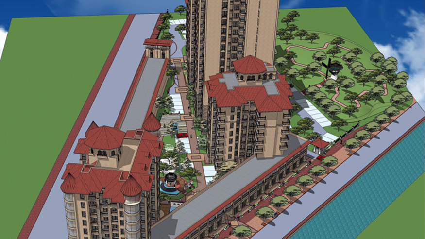 恩平市温泉里景观规划设计方案鸟瞰图