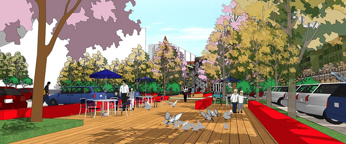 东莞愉景威尼斯商业广场改造规划设计B区透视图一