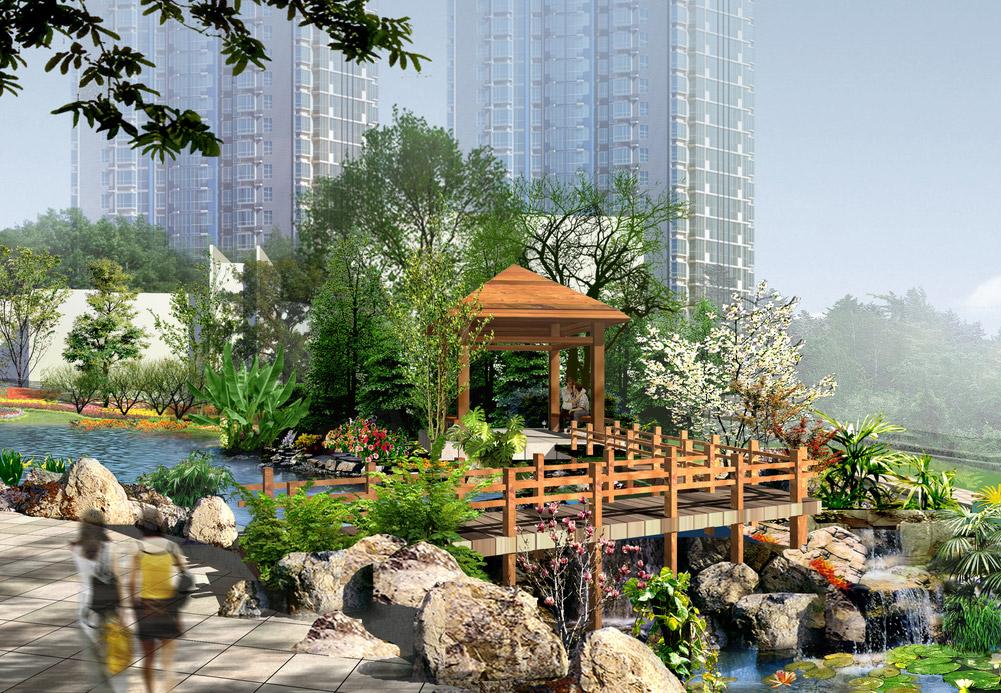 住宅小区景观设计图片