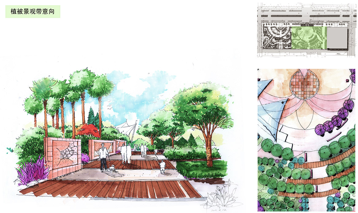 德庆县市政中心广场景观方案设计节点详述2