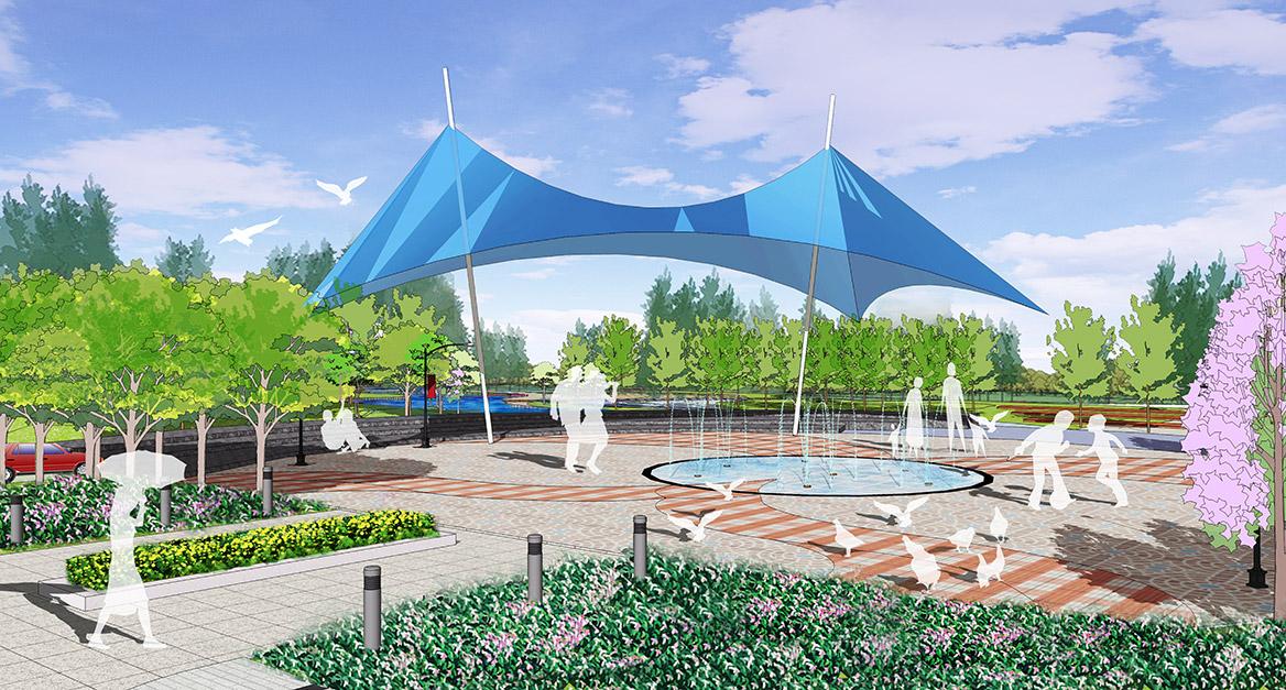 德庆县市政中心广场景观方案设计广场1