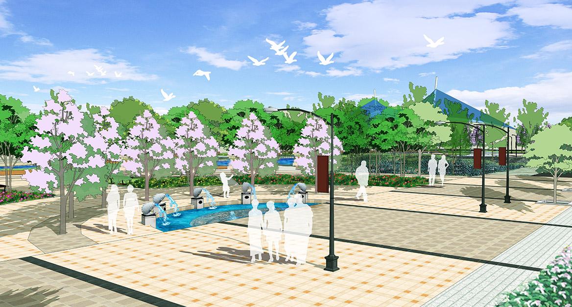 德庆县市政中心广场景观方案设计广场2